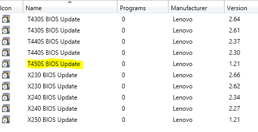 How to flash BIOS with SCCM during OSD (Lenovo ThinkPad