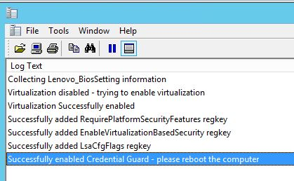 Powershell: Enable virtualization and Credential Guard in an