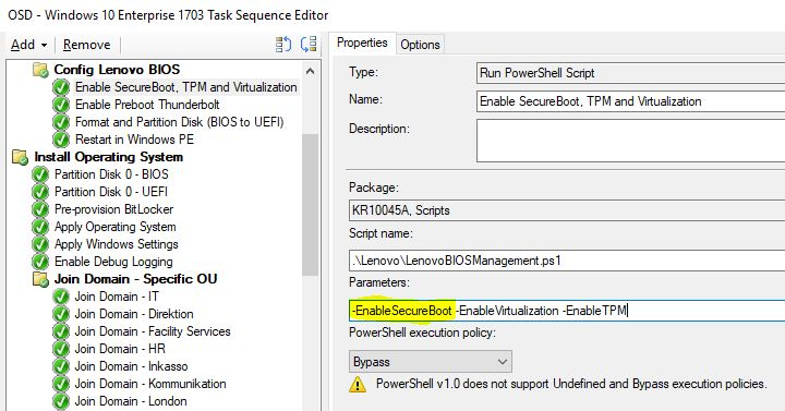 Converting from BIOS to UEFI with Powershell (During OSD using SCCM
