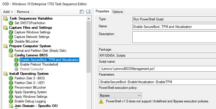 Manage Lenovo BIOS with Powershell (During OSD with SCCM) - imab dk