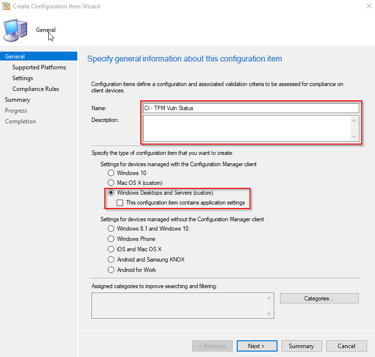 Detect vulnerability in TPM (ADV170012) using ConfigMgr Compliance