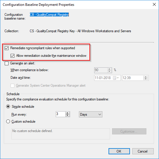 Create required registry key for Intel vulnerability