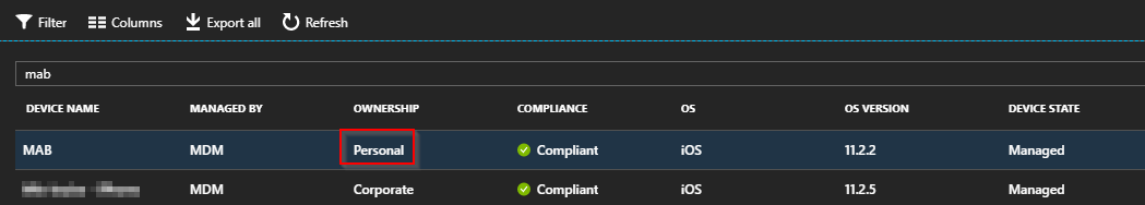 Change device ownership in Microsoft Intune standalone using