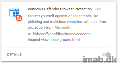 Deploy a forced installation of the Windows Defender Google Chrome