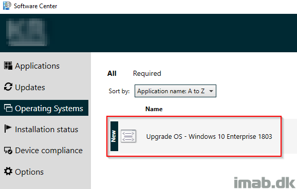 How can I in-place upgrade to Windows 10 1803 using Powershell App