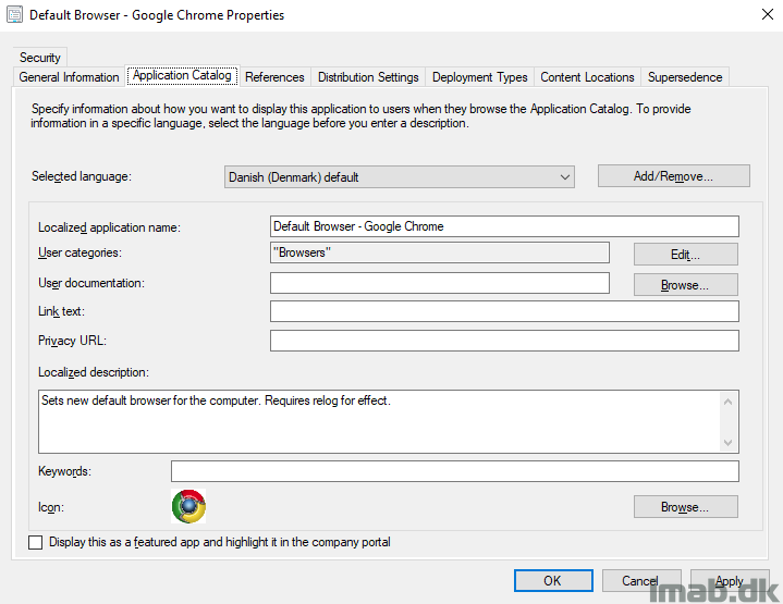 Switch default browser the enterprise way using the Software