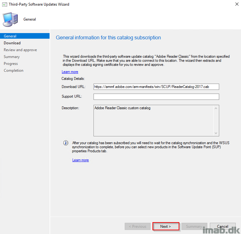 Adding Adobe Third-Party Software Update catalog in SCCM (System