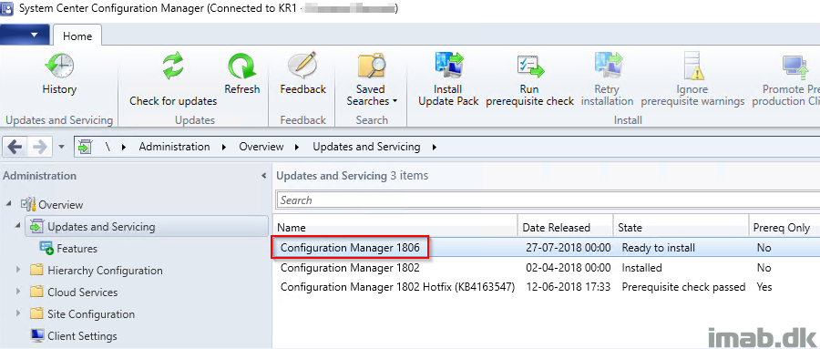 How can I upgrade SCCM (Configuration Manager) Current