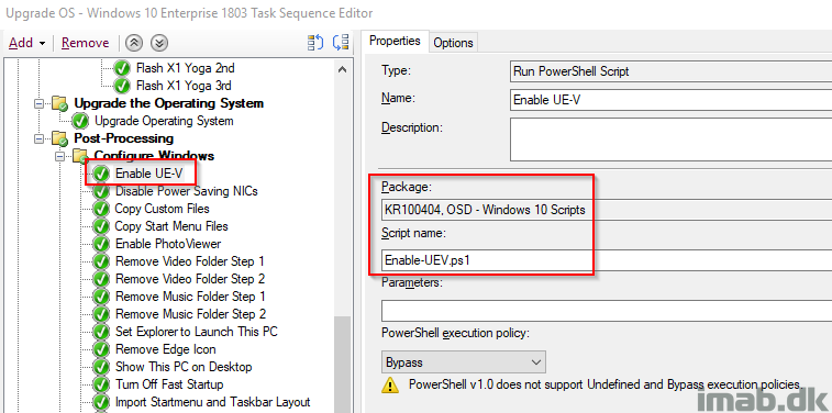 Enable UE-V (User Experience Virtualization) during OSD with