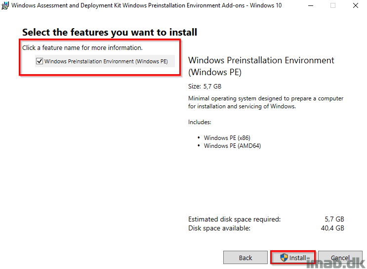 How can I update the Windows 10 ADK (Windows Assessment and