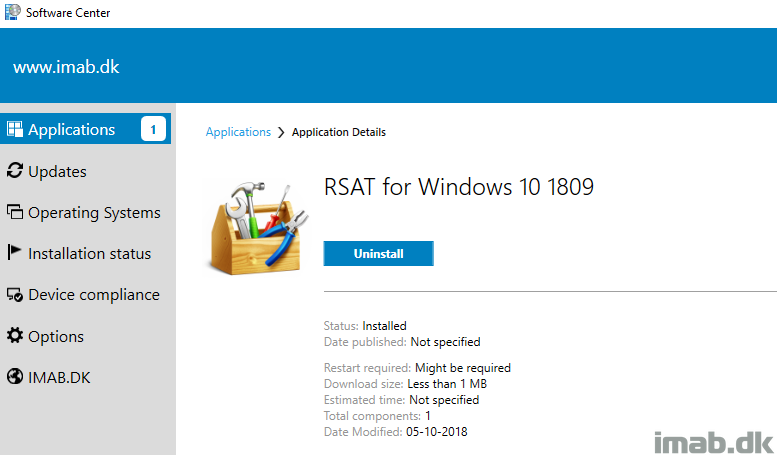 Deploy RSAT (Remote Server Administration Tools) for Windows 10