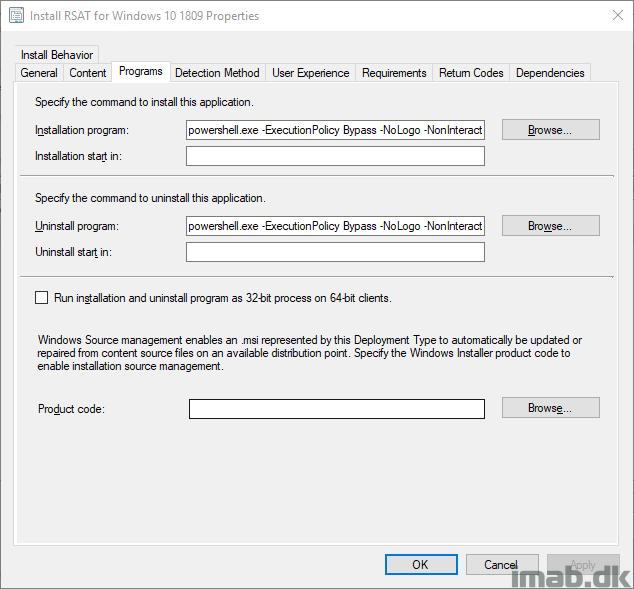 Deploy RSAT (Remote Server Administration Tools) for Windows 10