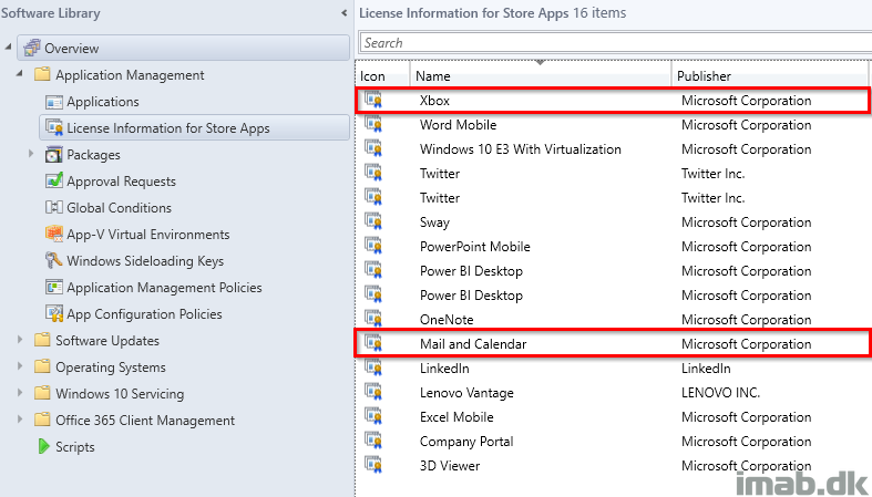Remove built-in apps for Windows 10 using SCCM and Microsoft