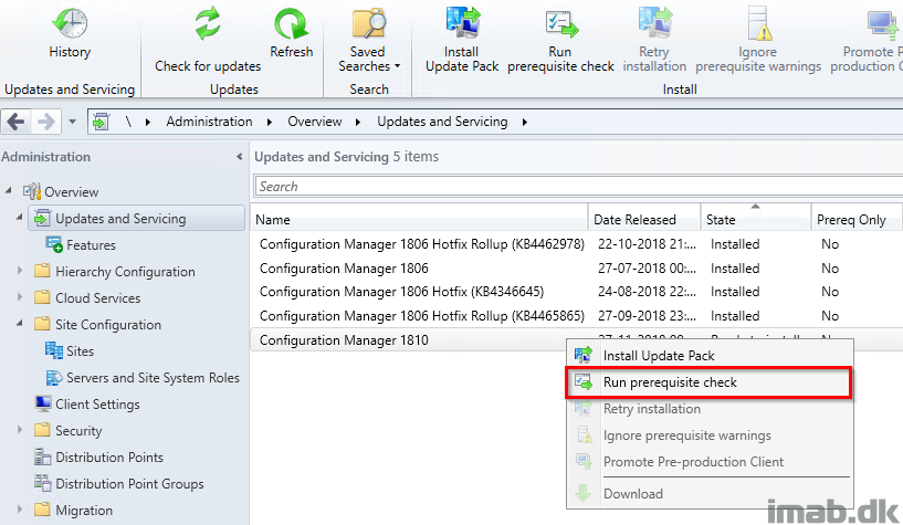 Updating Configuration Manager Current Branch to version