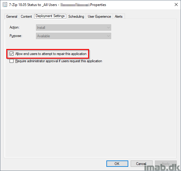 Repairing broken applications using Software Center and SCCM