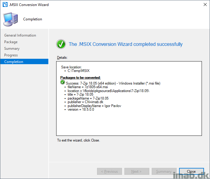 Convert and deploy  MSIX applications using SCCM 1810 (System Center