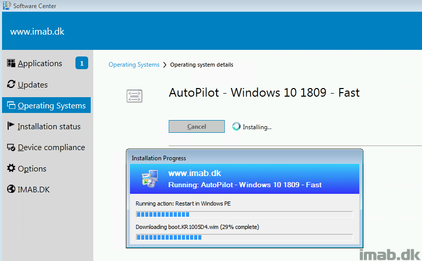 AutoPilot for existing devices: Move from Windows 7 to