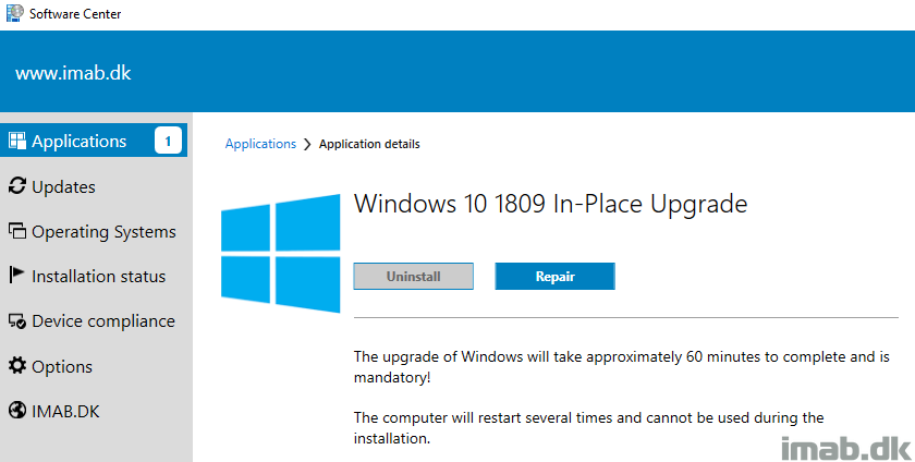 Upgrade Windows 10 over the Internet with In-Place Upgrade