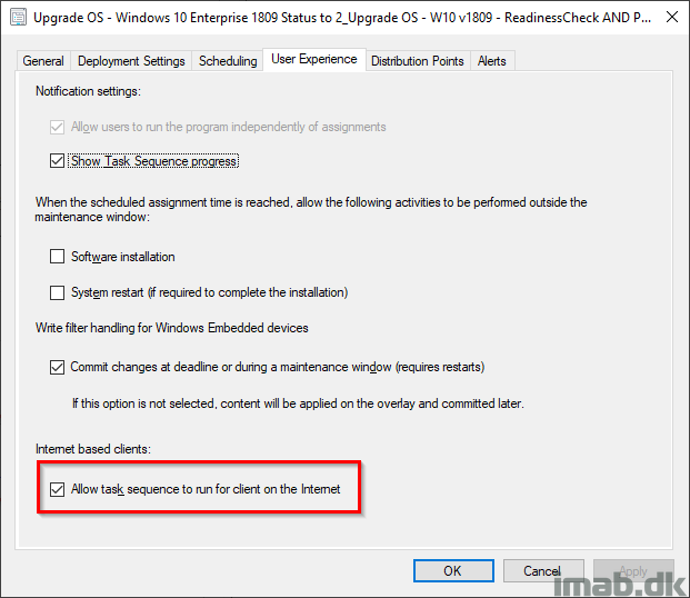 Upgrade Windows 10 over the Internet with In-Place Upgrade Task