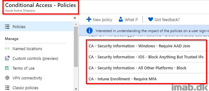 Intune enrollment, Multi-Factor Authentication and