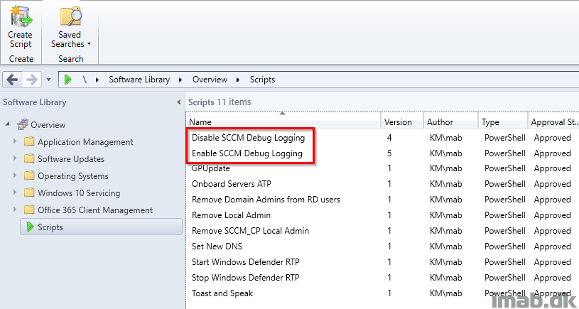 Enable and disable ConfigMgr client debug logging in a jiffy