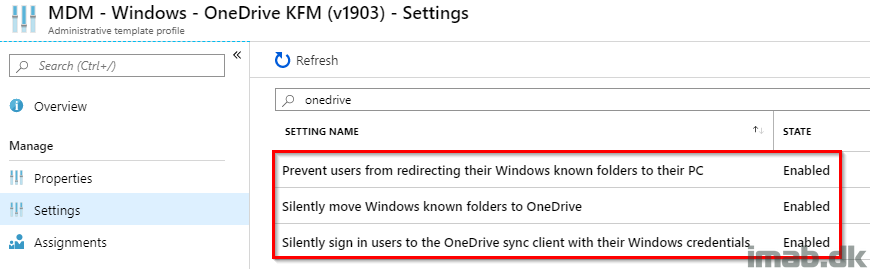 Configure OneDrive Known Folder Move with Administrative