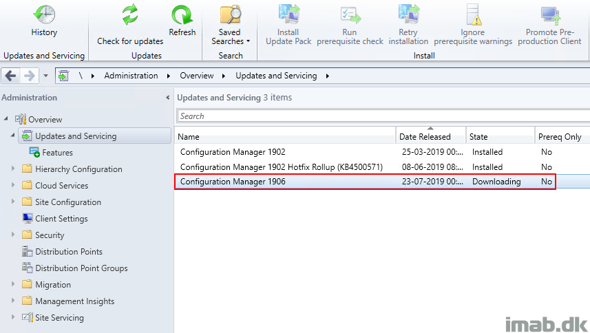 Updating SCCM (System Center Configuration Manager) Current