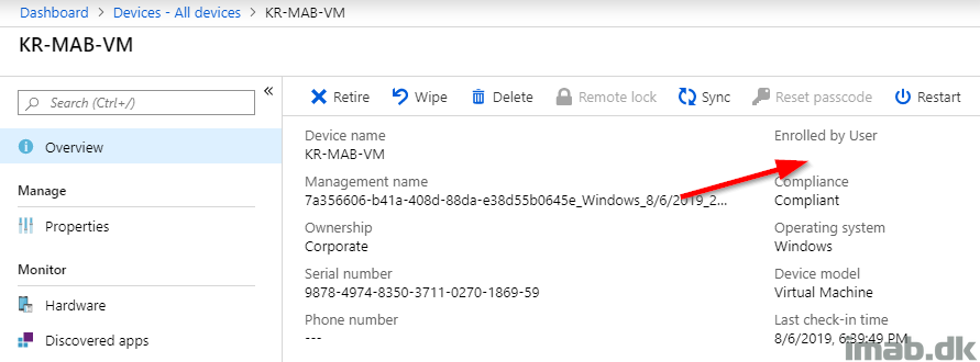 Enrollment of co-managed devices based on Azure AD device
