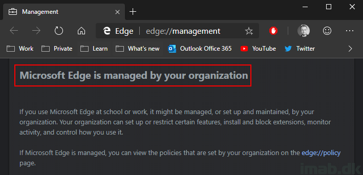 Managing Microsoft Edge Chromium settings with SCCM (System