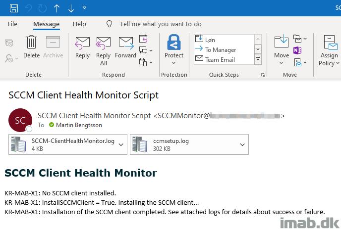 SCCM Client Health Monitor Script - imab dk
