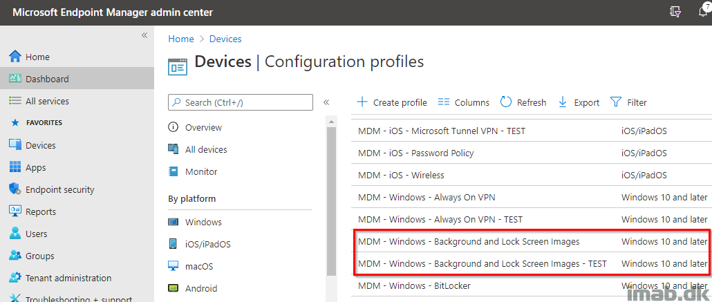 Move Away From Group Policy And Set Wallpaper And Lock Screen Images With Local Source Files And Microsoft Endpoint Manager Intune Imab Dk